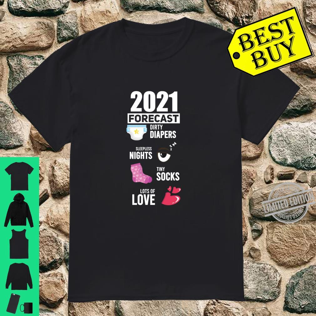 2021 Forecast New Mom New Dad Baby Announcement Shirt