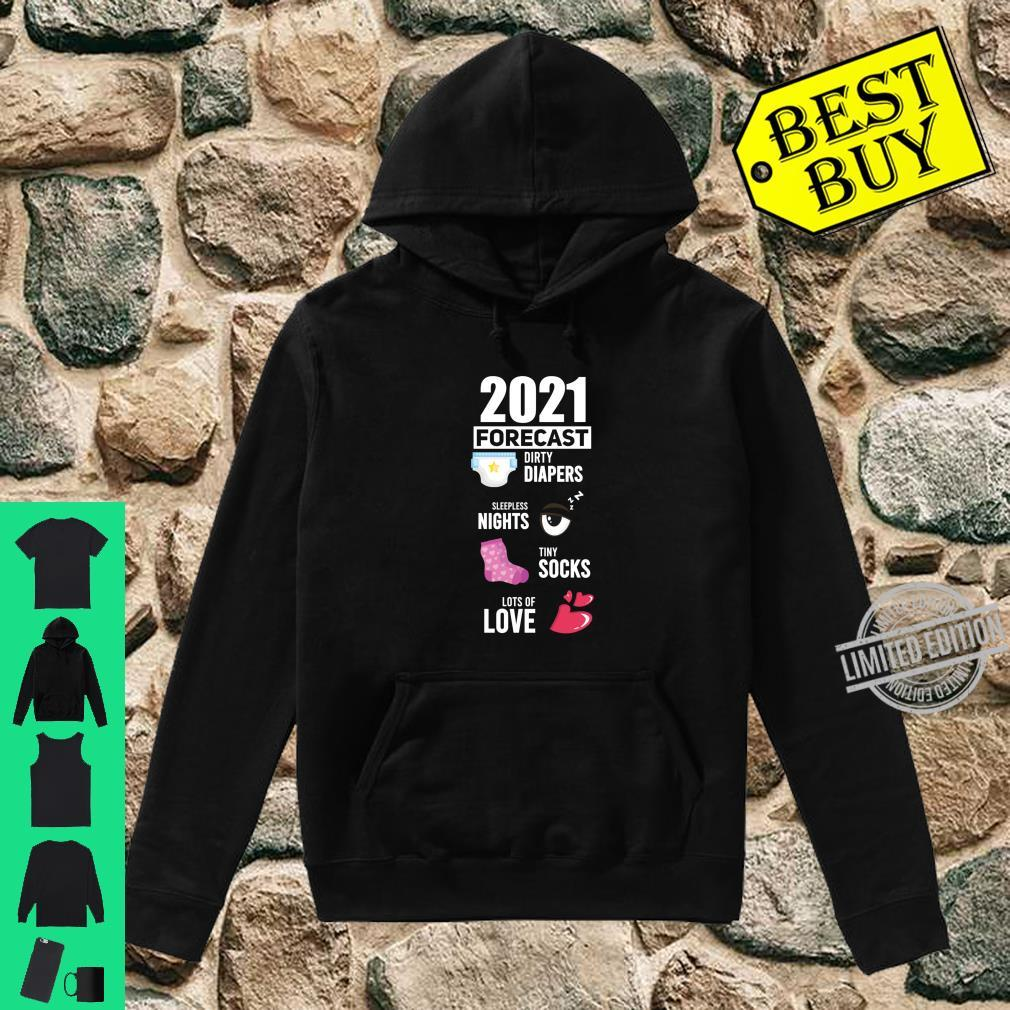 2021 Forecast New Mom New Dad Baby Announcement Shirt hoodie