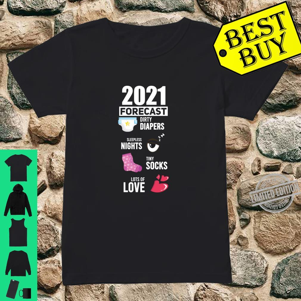 2021 Forecast New Mom New Dad Baby Announcement Shirt ladies tee