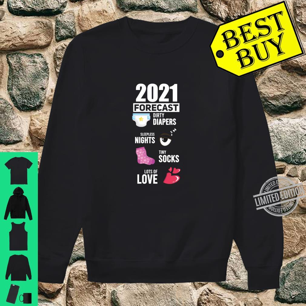 2021 Forecast New Mom New Dad Baby Announcement Shirt sweater