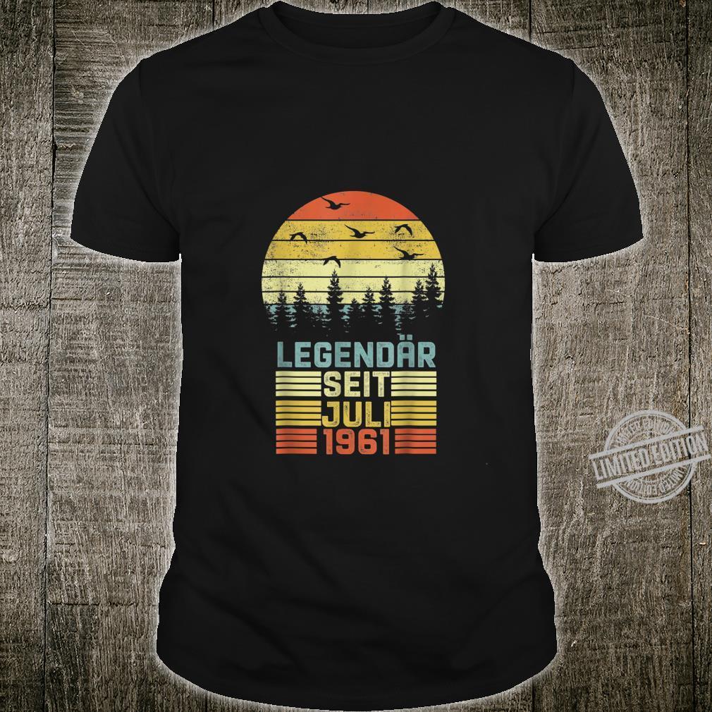 59. Geburtstag 59 Jahre Geschenk Legendär Seit Juli 1961 Shirt