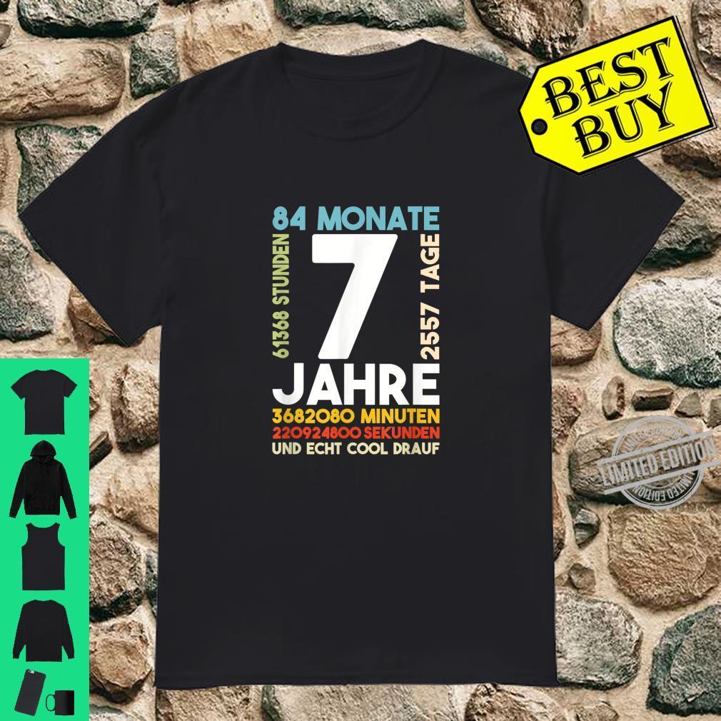 7. Geburtstag Sieben Jahre 84 Monate Super Cooles Geschenk Shirt