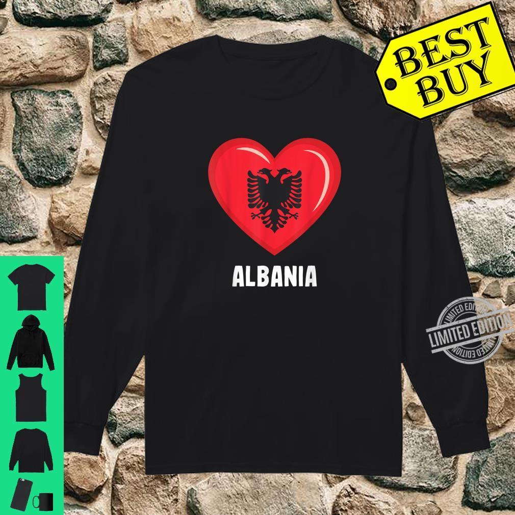 Albania Flag Shirt Albanian Shirt long sleeved
