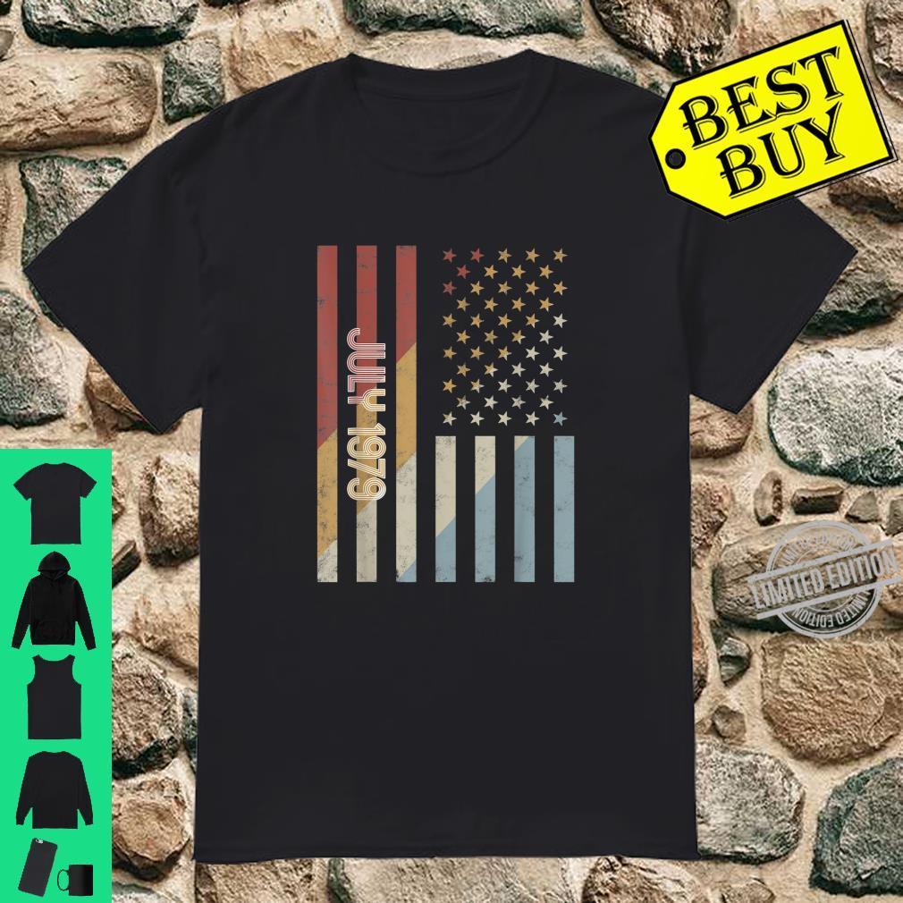 American Flag July 1979 Birthday Retro USA Shirt