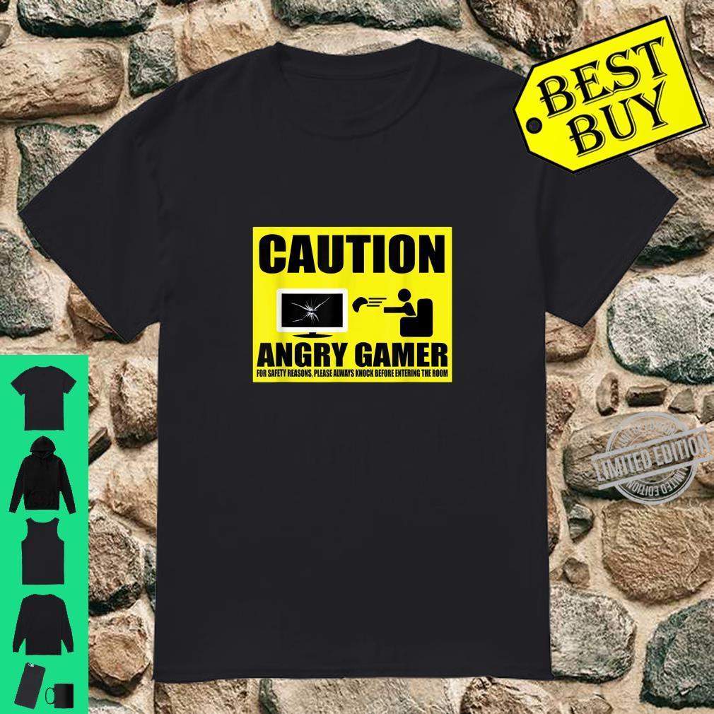 Angry Video Gamer Warning Shirt