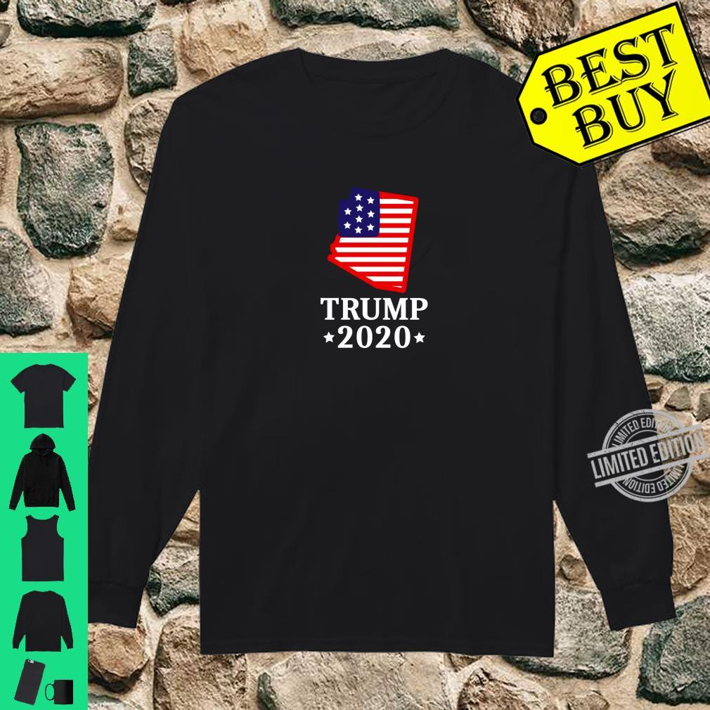 Arizona For Trump 2020 GOP Conservative AZ State Map Shirt long sleeved