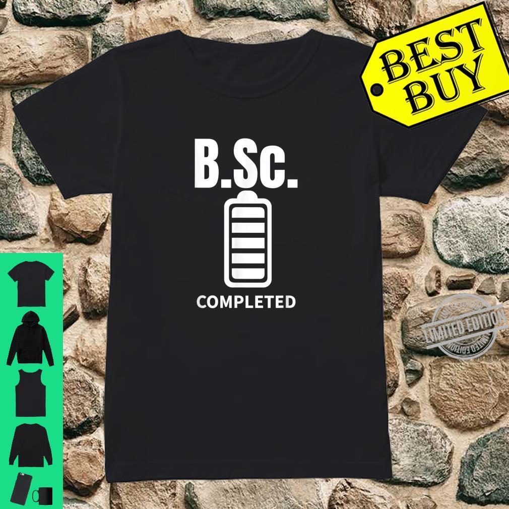 B.Sc. Bachelor of Science completed Abschluss Geschenk Shirt ladies tee