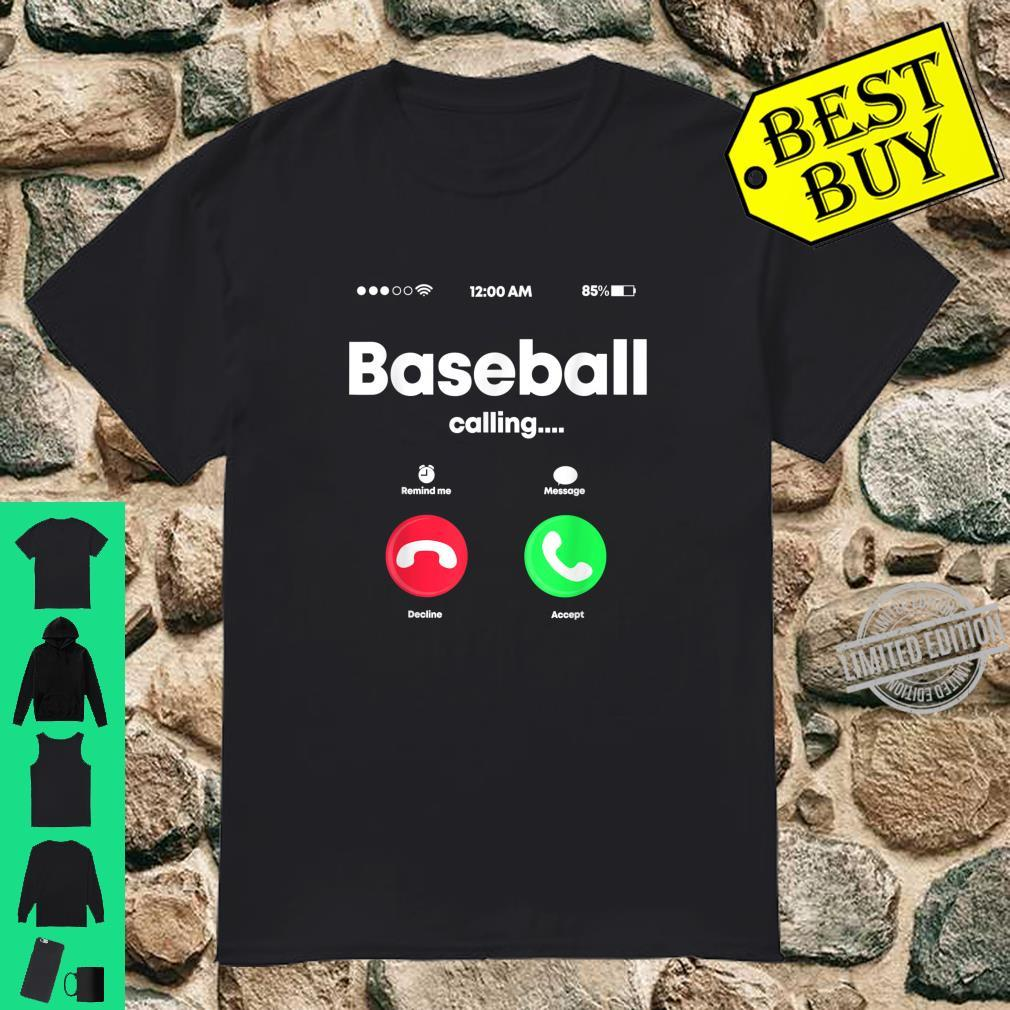 Baseball Calling Phone Cool Softball USA Sports Player Shirt