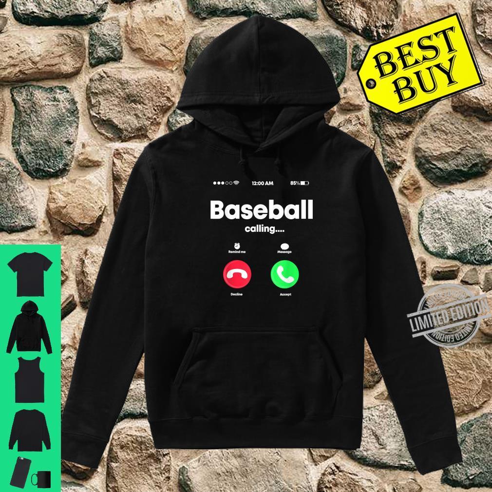 Baseball Calling Phone Cool Softball USA Sports Player Shirt hoodie