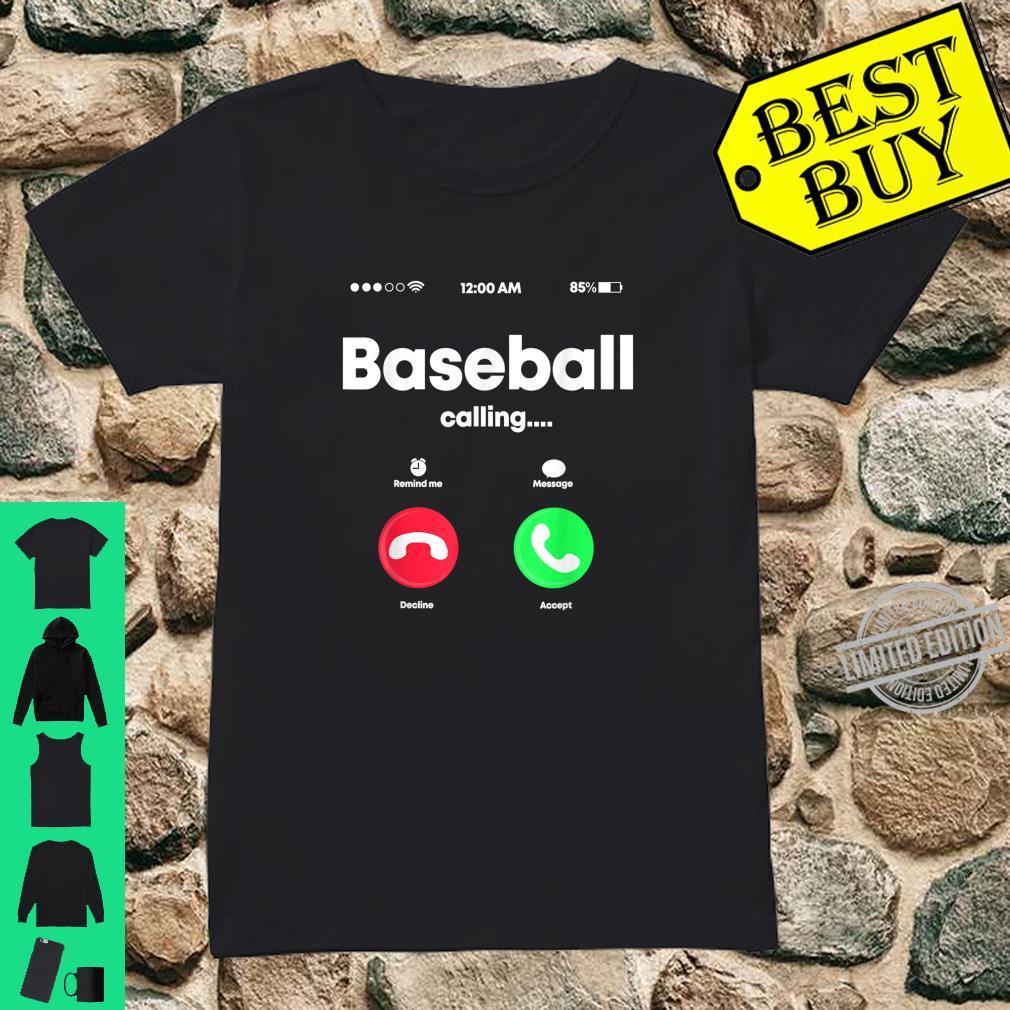 Baseball Calling Phone Cool Softball USA Sports Player Shirt ladies tee