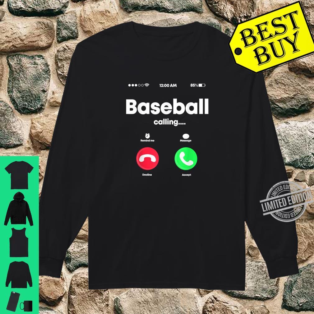 Baseball Calling Phone Cool Softball USA Sports Player Shirt long sleeved