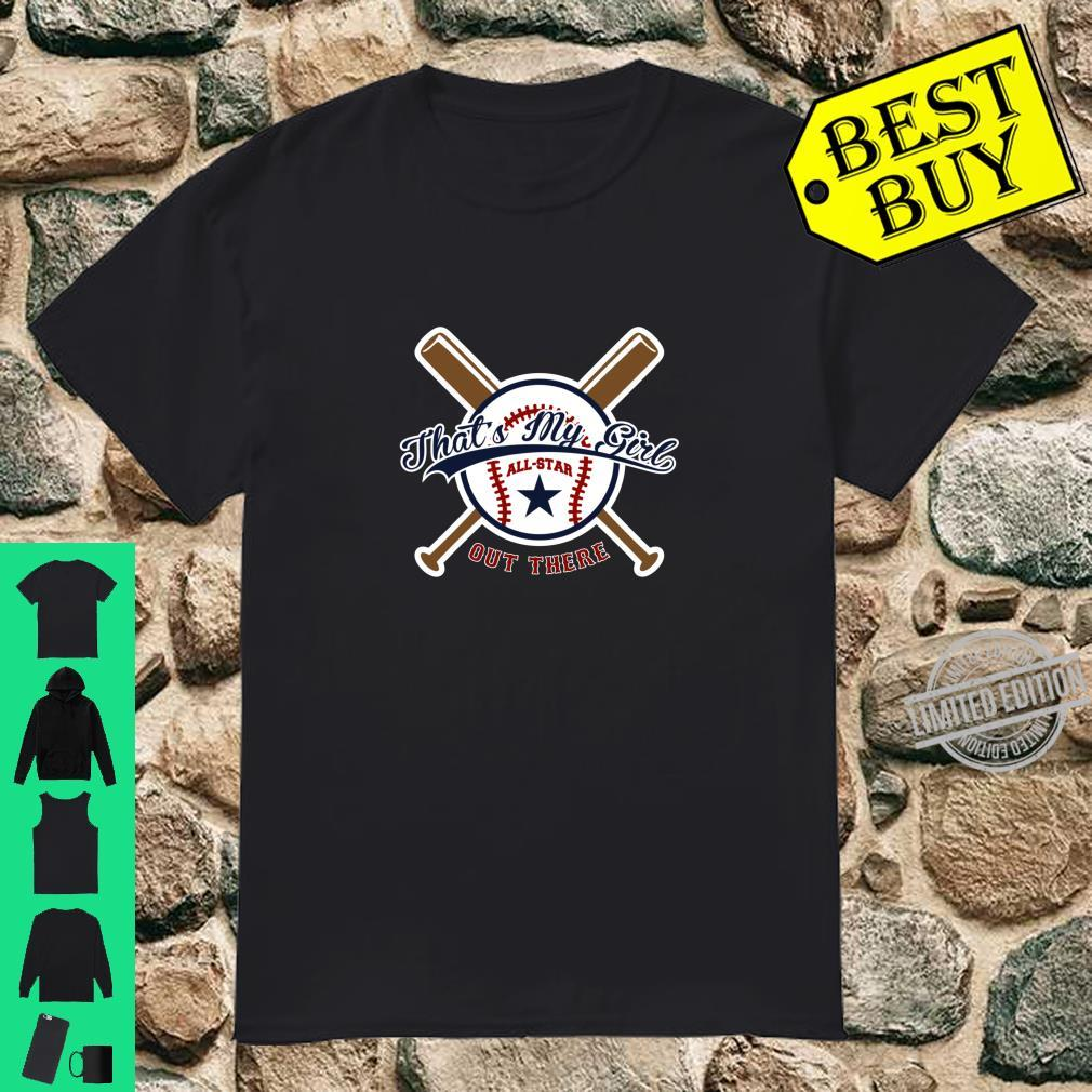 Baseball design for Mom & Dad That's my Boy Out There Shirt