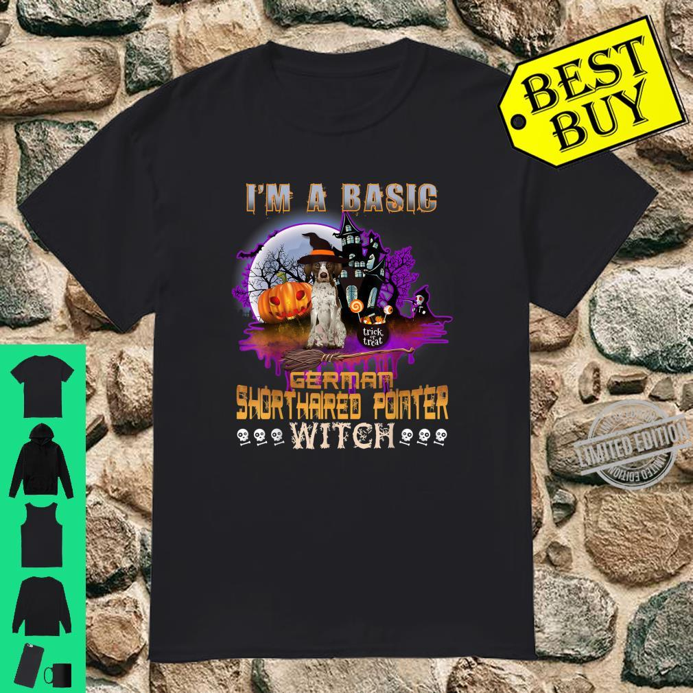 Basic German Shorthaired Pointer Witch Halloween Costumes Shirt
