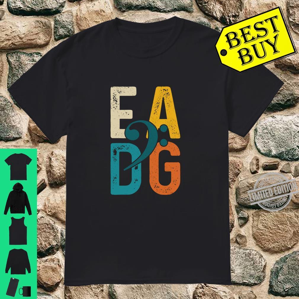 Bass Player Vintage EADG Double Bass Clef Bassist Shirt