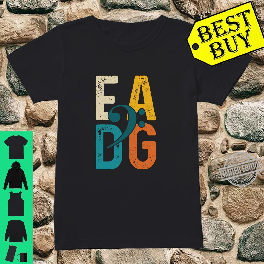 Bass Player Vintage EADG Double Bass Clef Bassist Shirt ladies tee