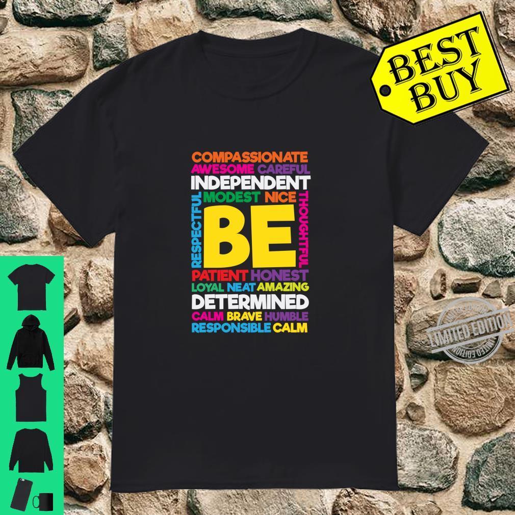 Be Amazing Positive Thinking Teacher Student Shirt