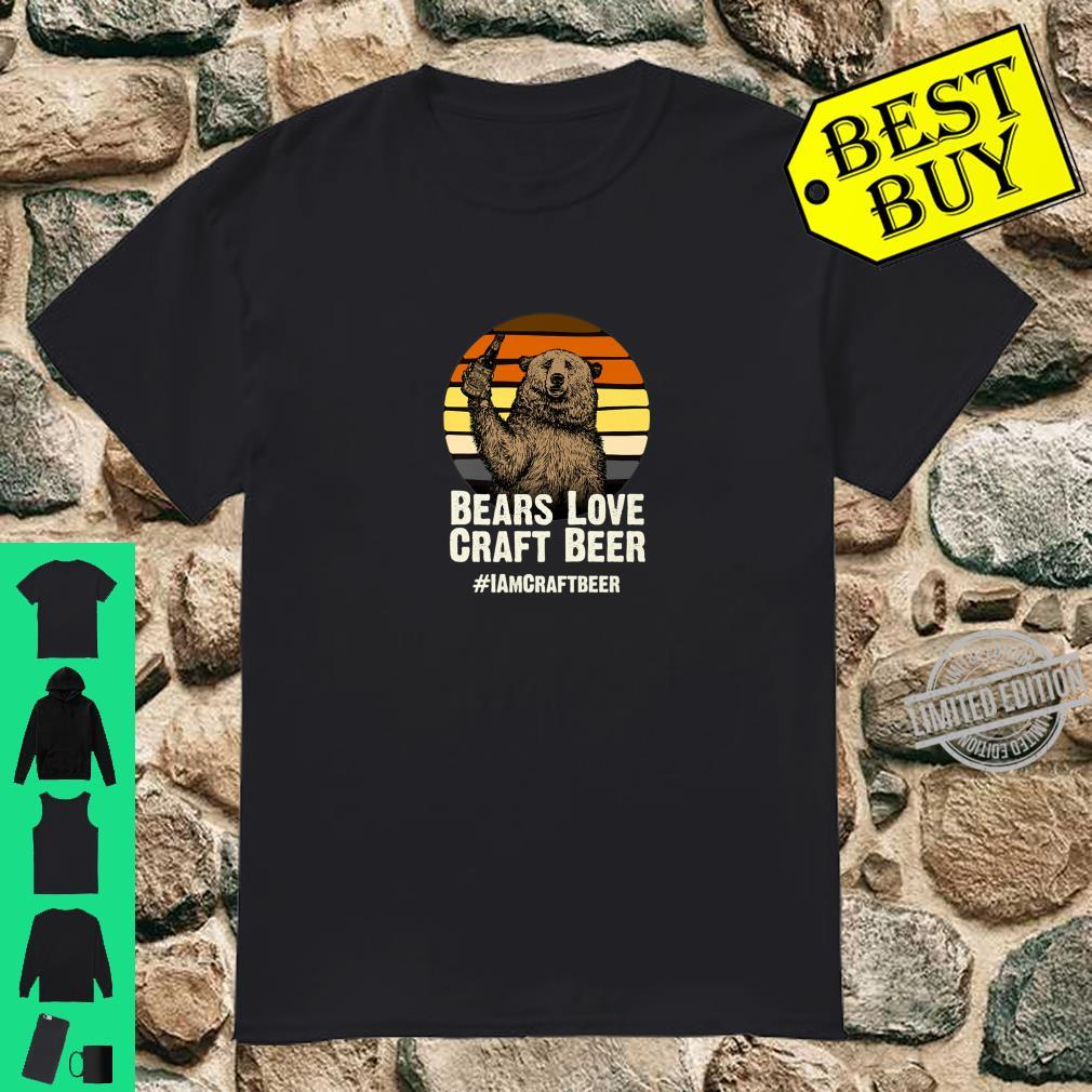 Bears Love Craft Beer Camping Grizzly Pride Shirt