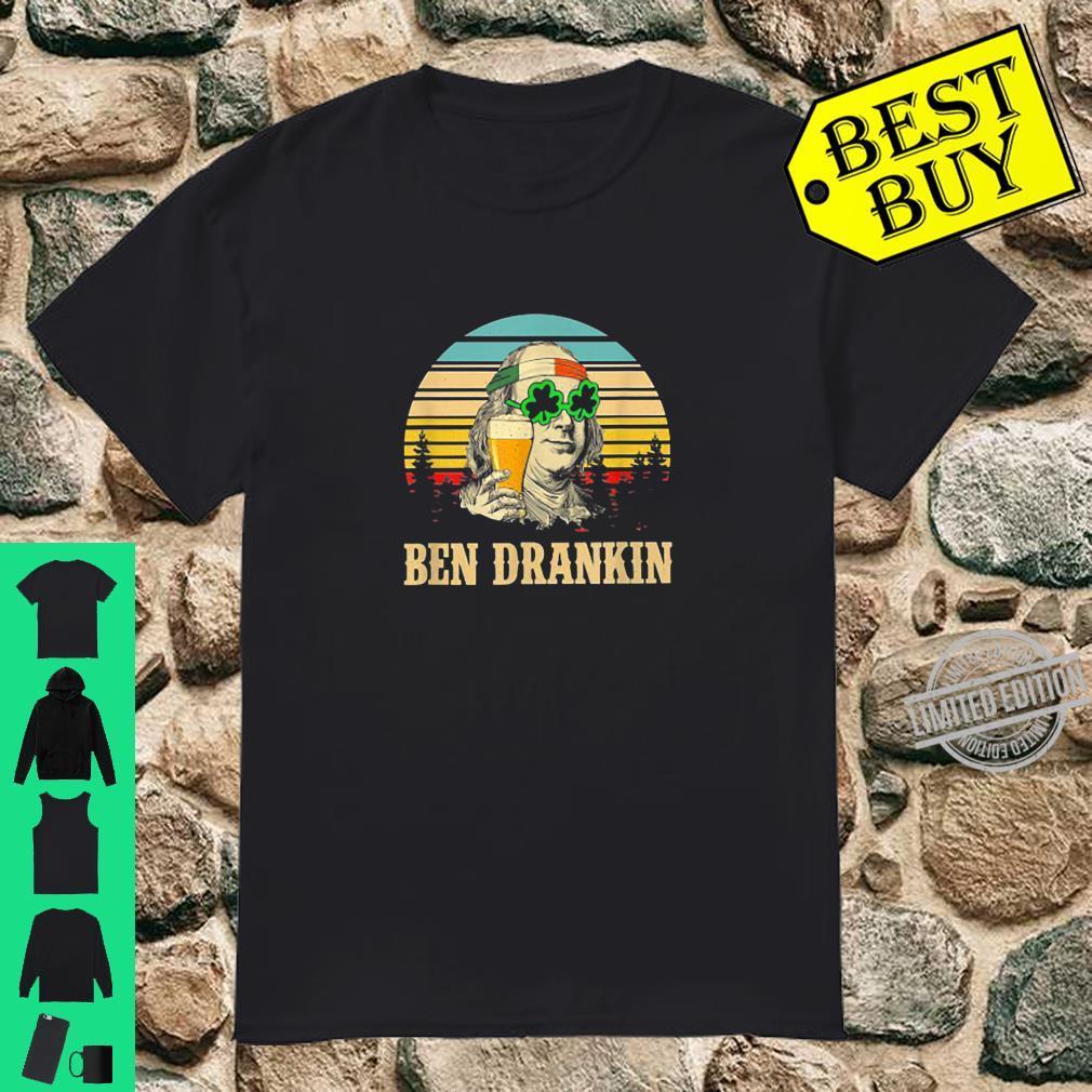 Ben Drankin Beer Apparel Retro Vintage St Patrick's Day Shirt