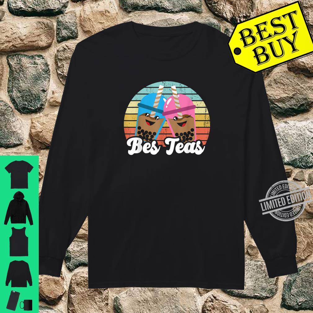 Bes Teas Pun Kawaii Boda Drinks Best Teas Best Friends Shirt long sleeved