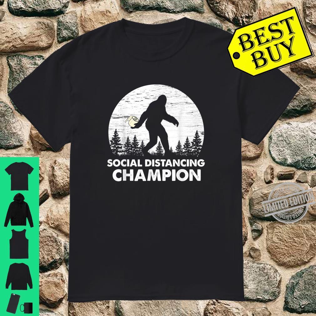 Bigfoot Social Distancing Champion Shirt Toilet Paper Shirt