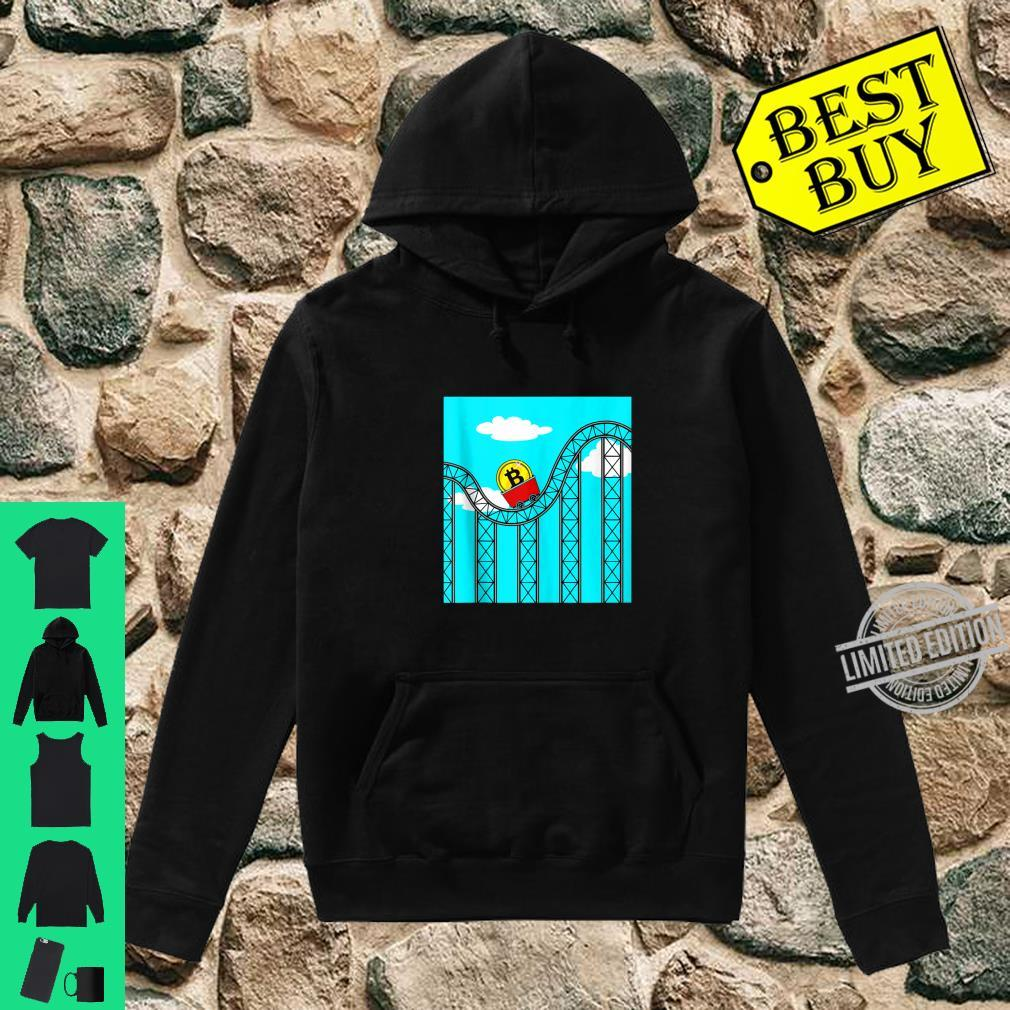Bitcoin Roller Coaster Ride Theme Park Trader Miner Investor Shirt hoodie