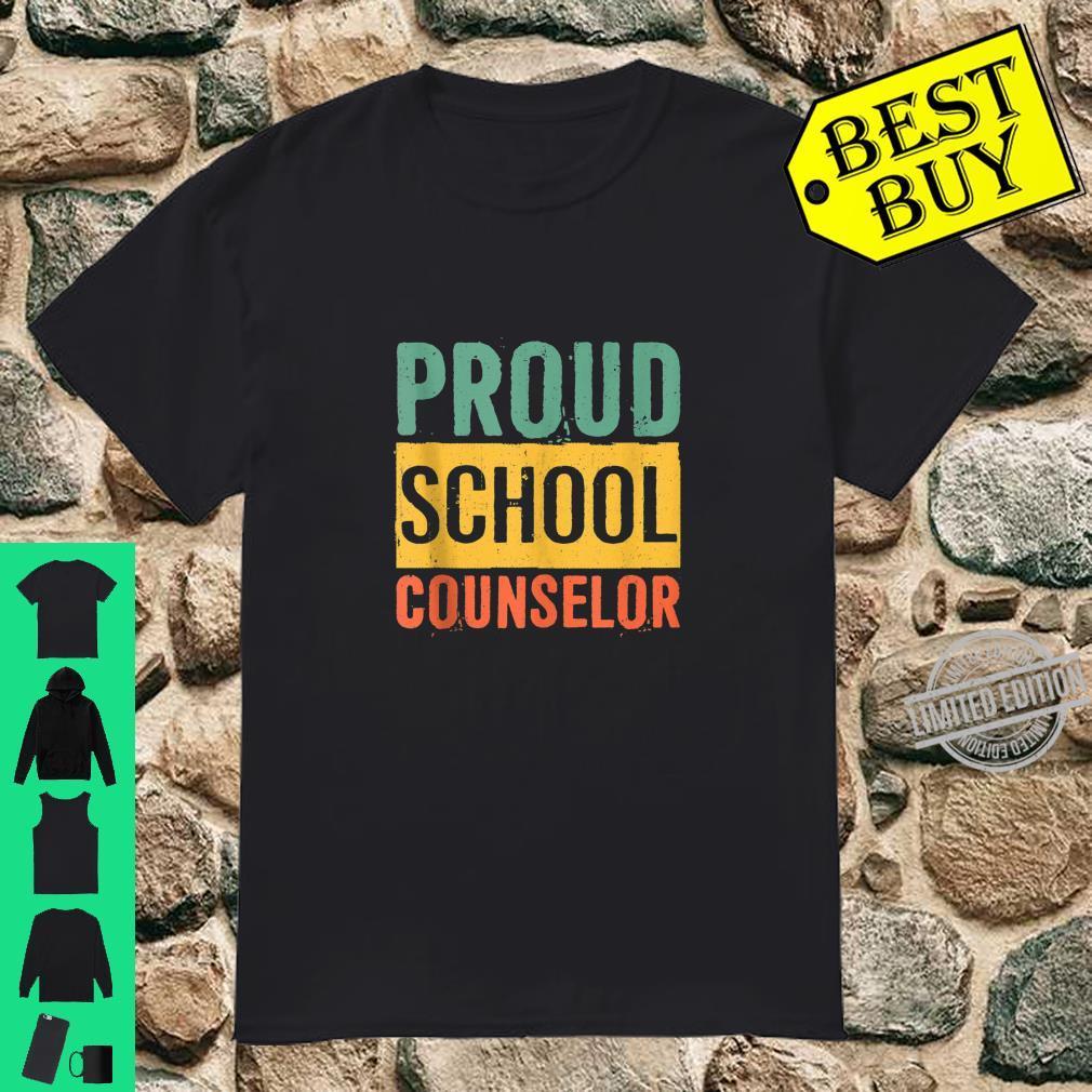 Black History Month Black Pride Proud School Counselor Shirt