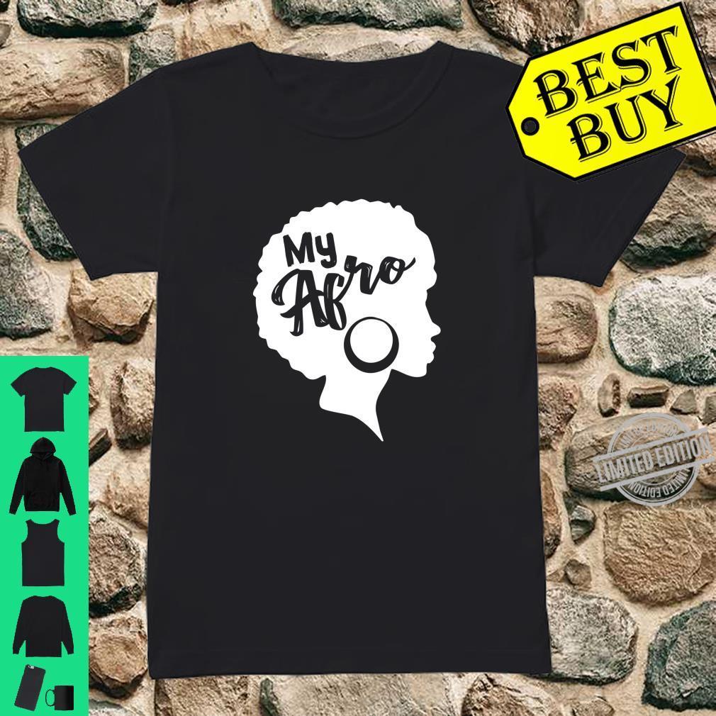 Black My Afro Vintage Design Shirt ladies tee