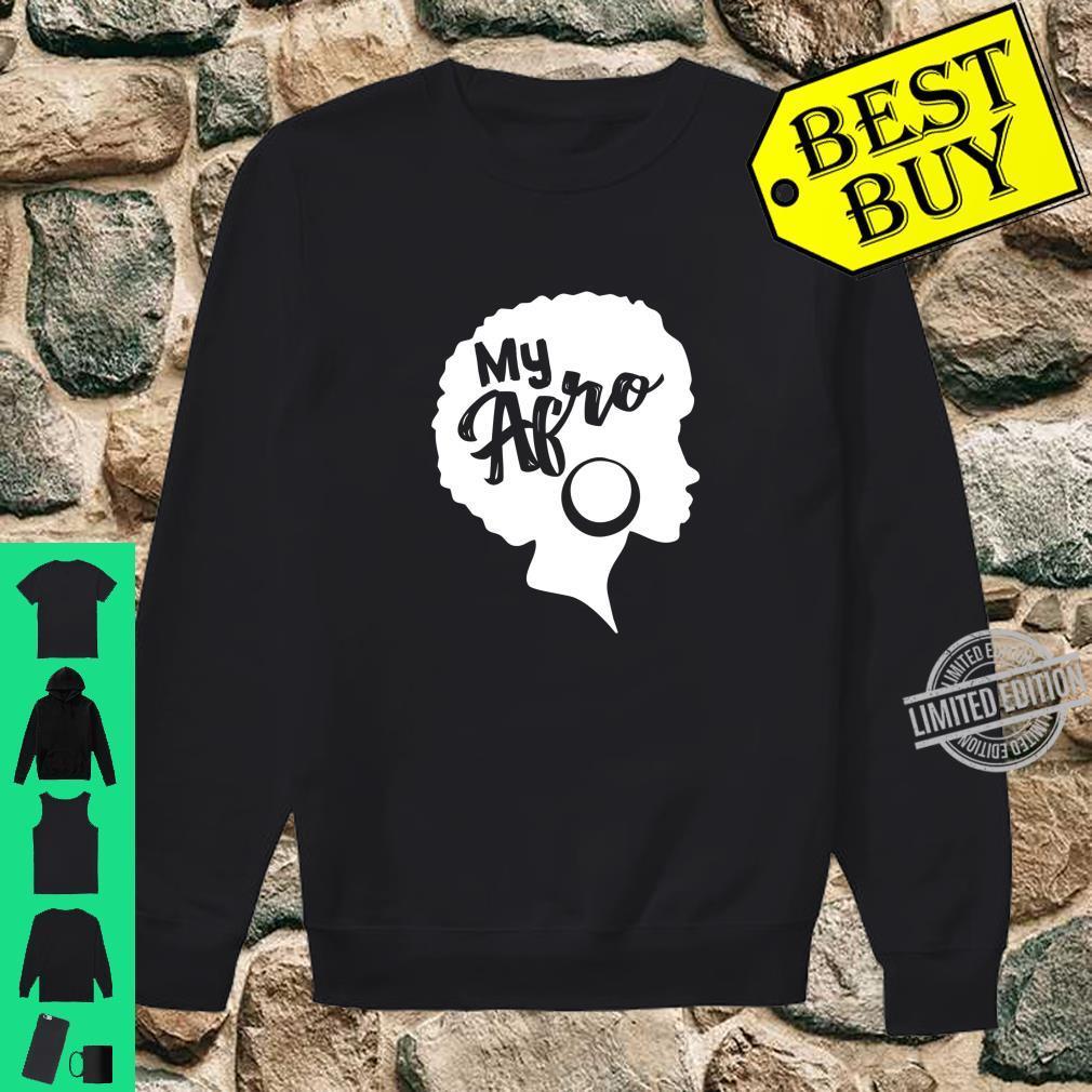 Black My Afro Vintage Design Shirt sweater