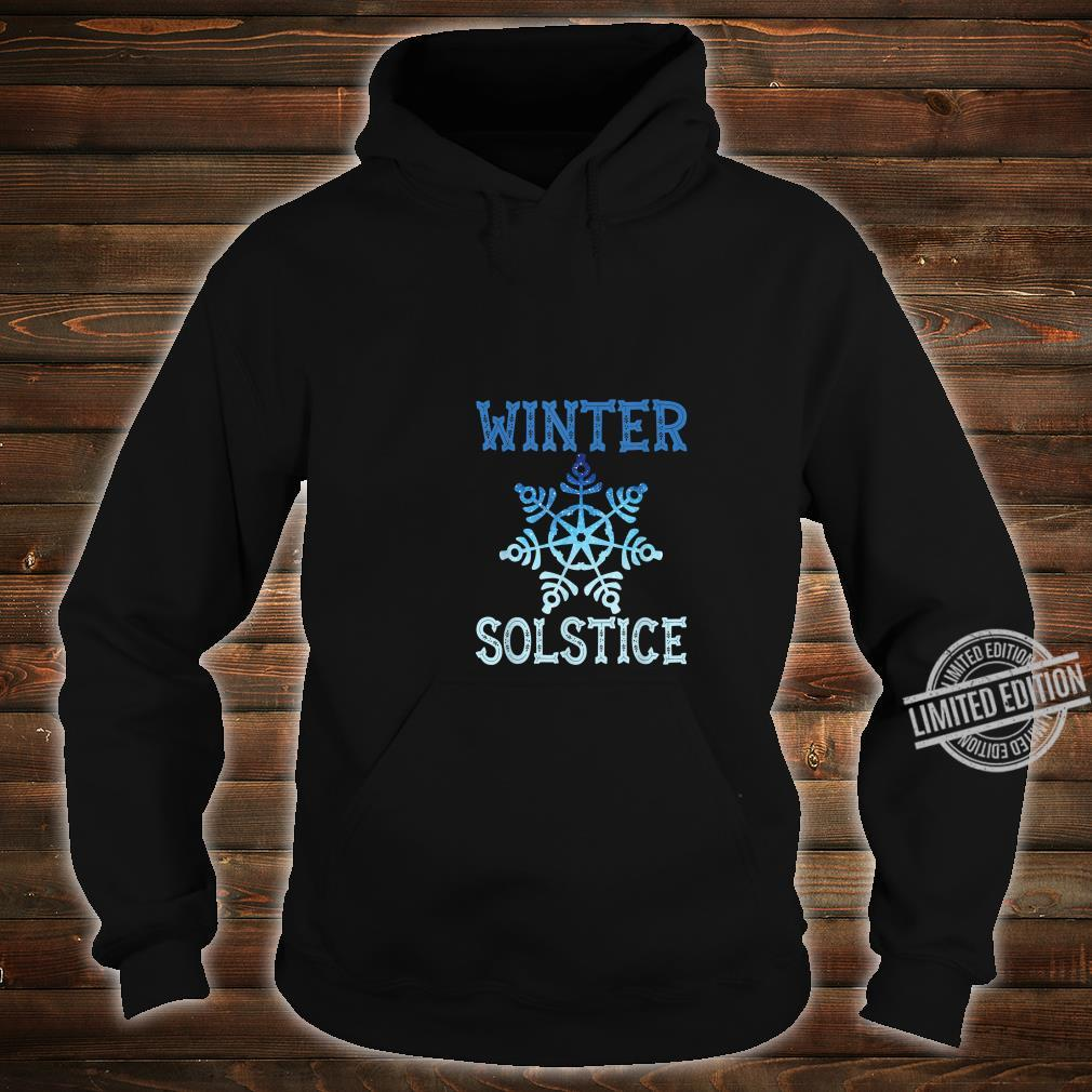 Blue Winter Snowflake Blessed Solstice Yule Cute Shirt hoodie