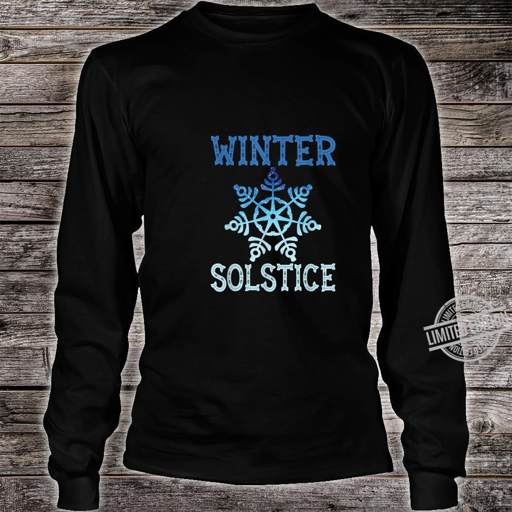 Blue Winter Snowflake Blessed Solstice Yule Cute Shirt long sleeved