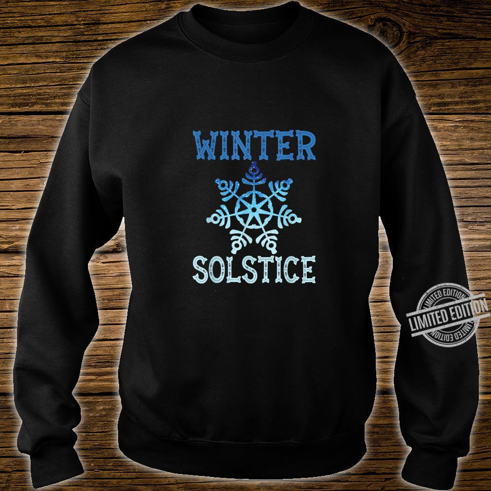 Blue Winter Snowflake Blessed Solstice Yule Cute Shirt sweater