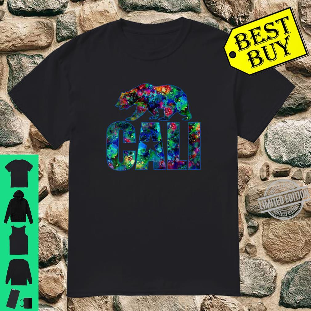 Cali TieDye Logo and Grizzly Bear Dark Shirt