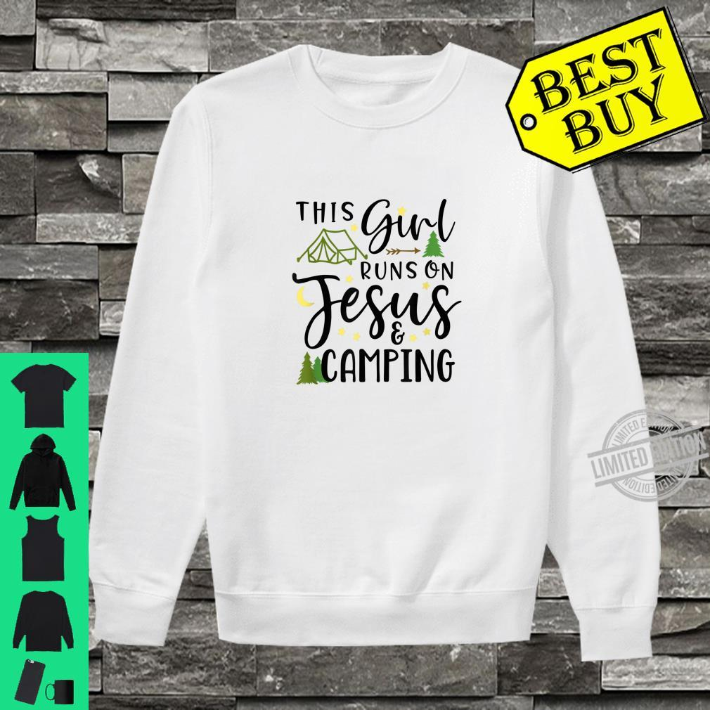 Camping Jesus This Girl Runs on Jesus and Camping Shirt sweater