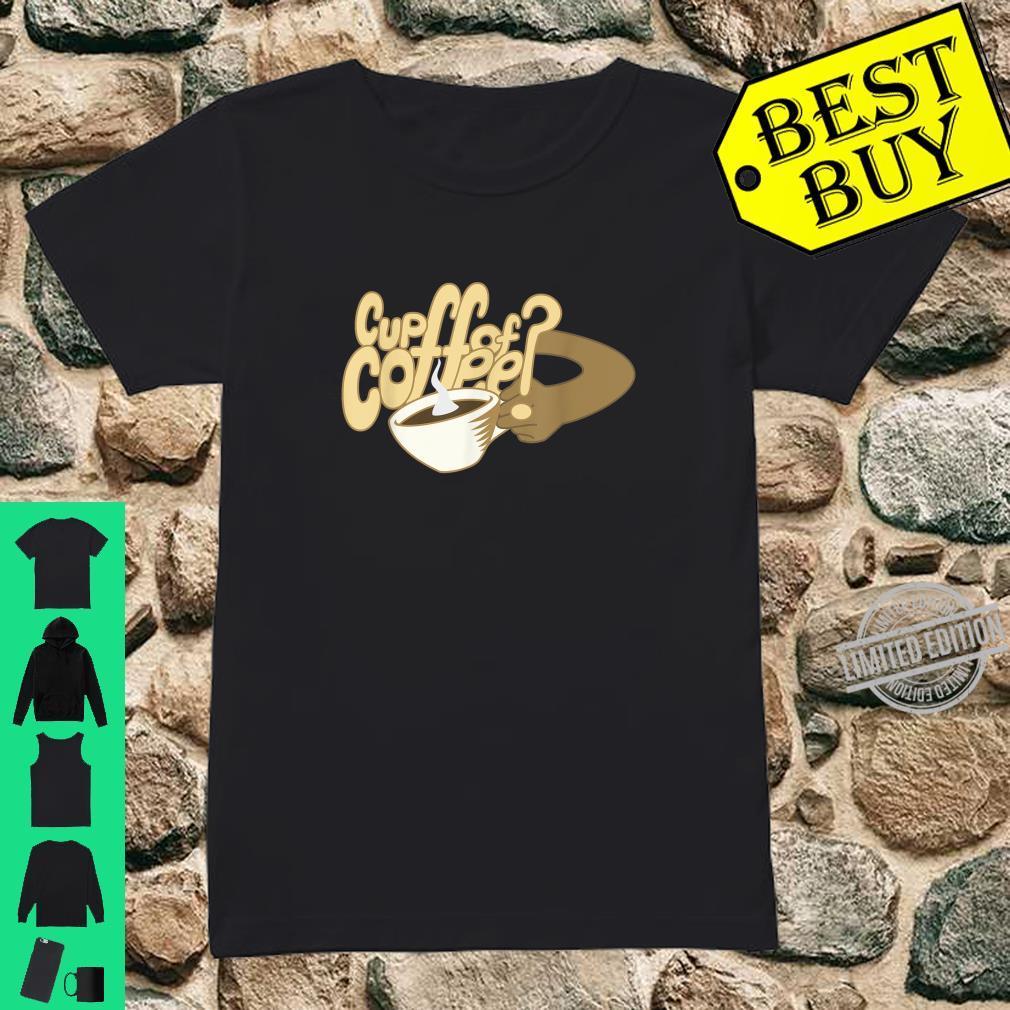 Cartoon Cup of Coffee and mug art Shirt ladies tee