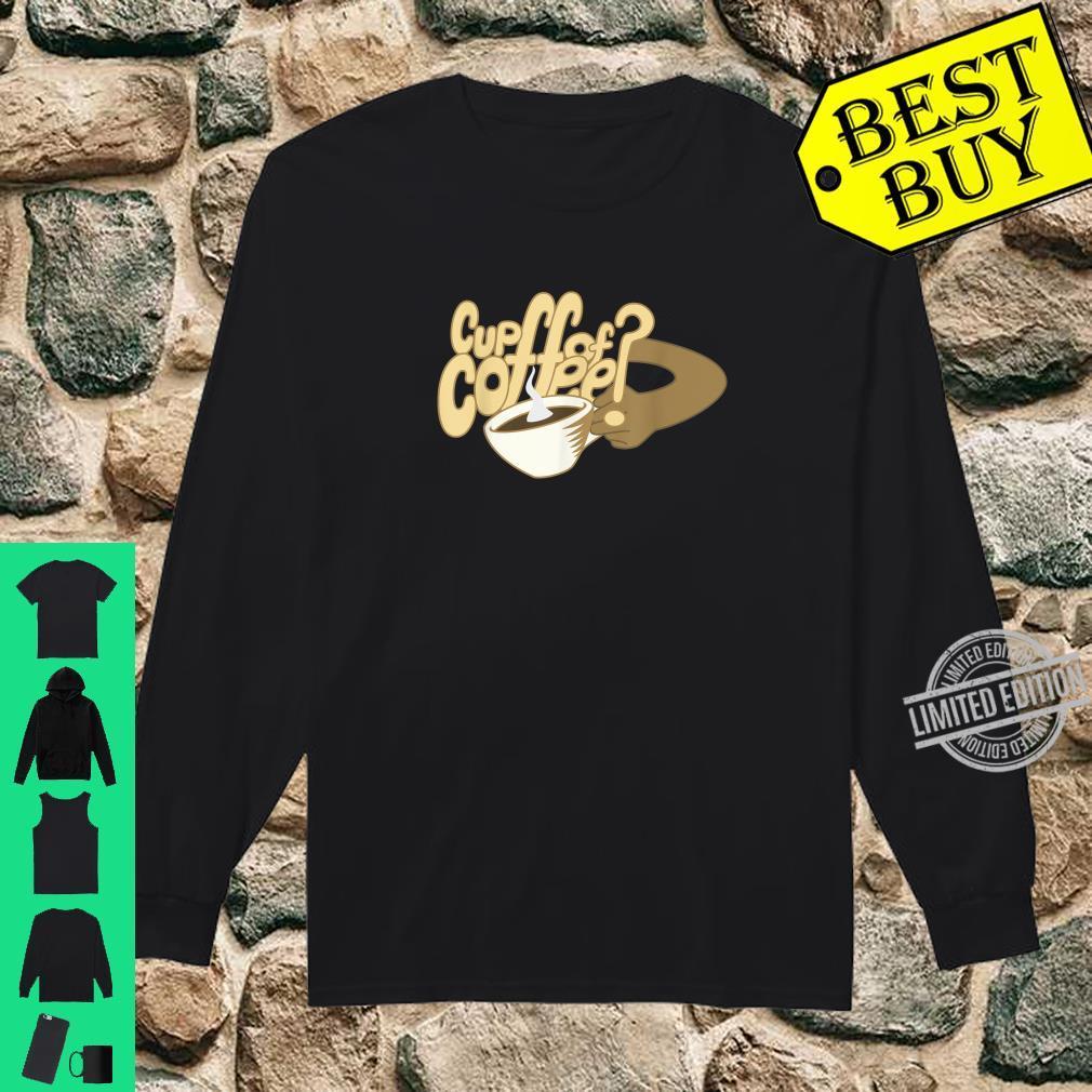 Cartoon Cup of Coffee and mug art Shirt long sleeved