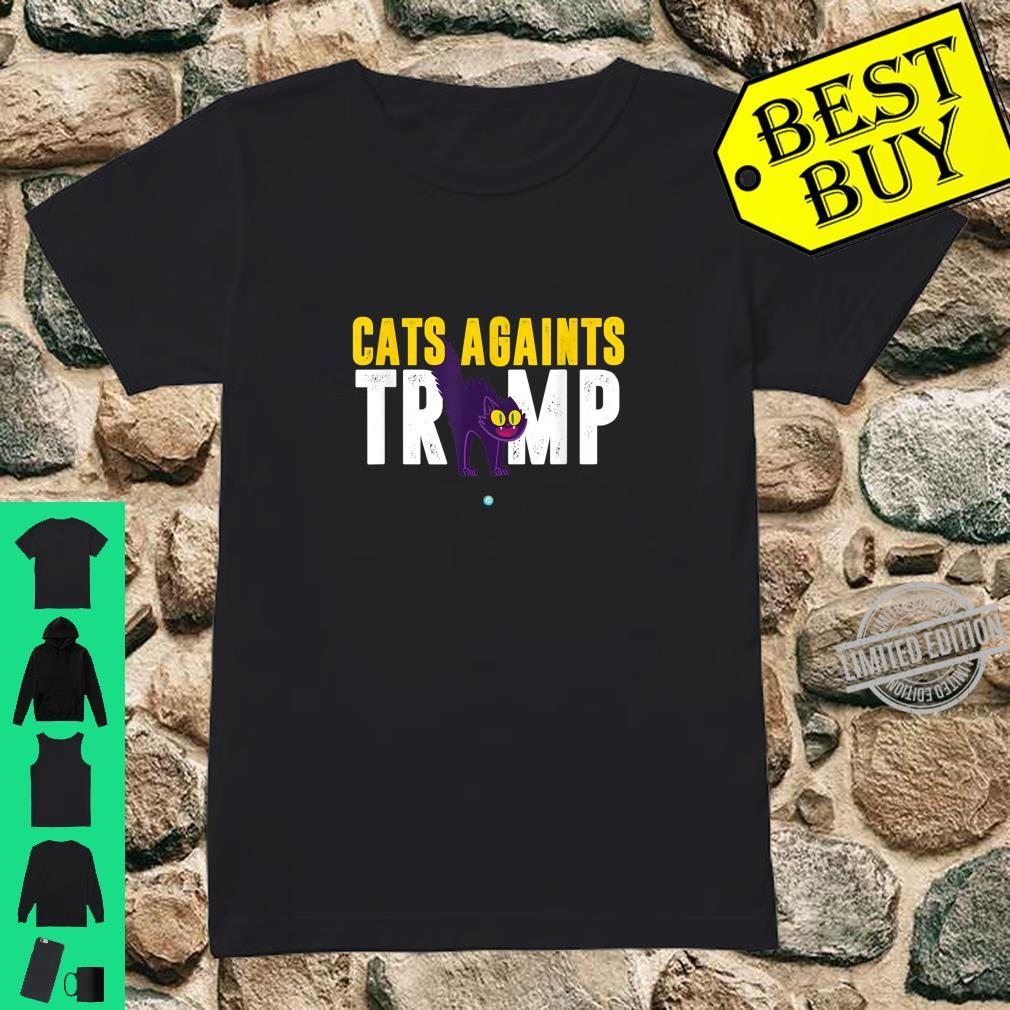 Cats Against Trump Anti Trump Shirt ladies tee
