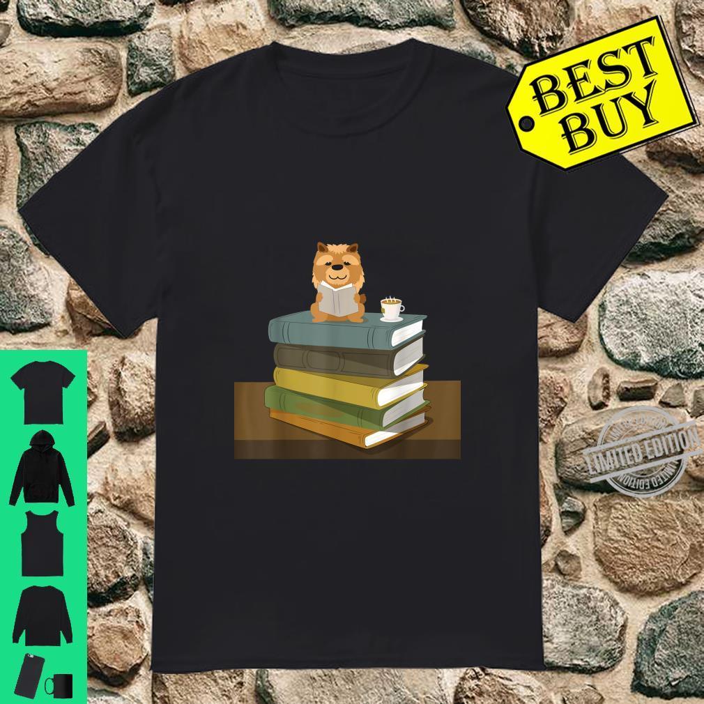 Chow Chow Dog Pet Books Coffee Reading Shirt Shirt