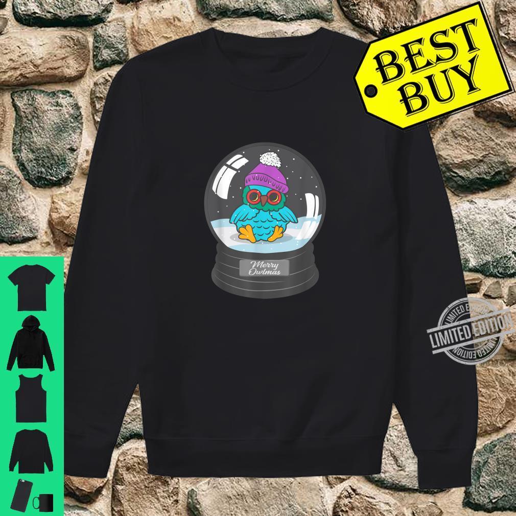 Christmas Owl Snow Globe Merry Owlmess Winter Cute Animal Shirt sweater