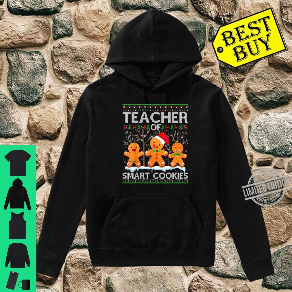 Christmas Teacher Of Smart Cookies Santa Hat Ugly Shirt hoodie