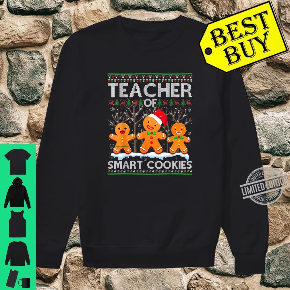 Christmas Teacher Of Smart Cookies Santa Hat Ugly Shirt sweater