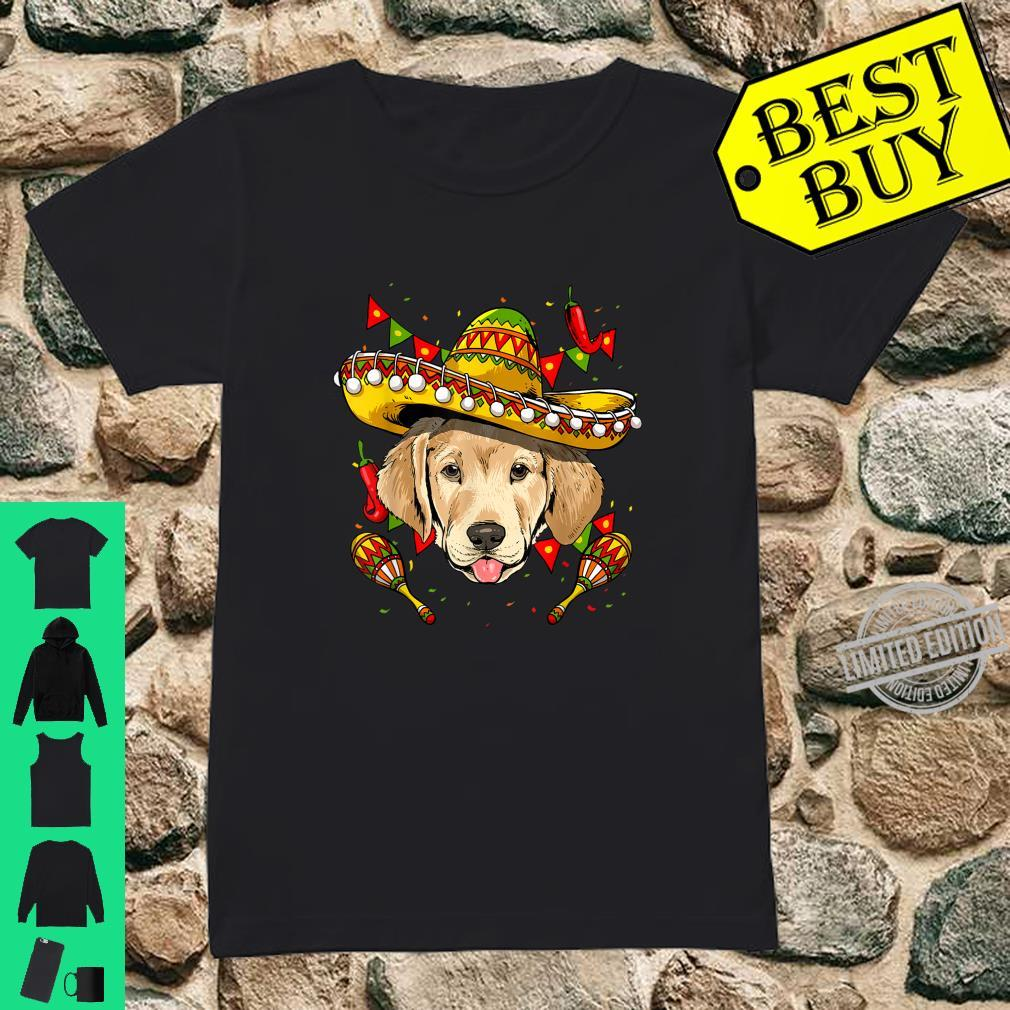 Cinco de Mayo Labrador Retriever Sombrero Shirt ladies tee