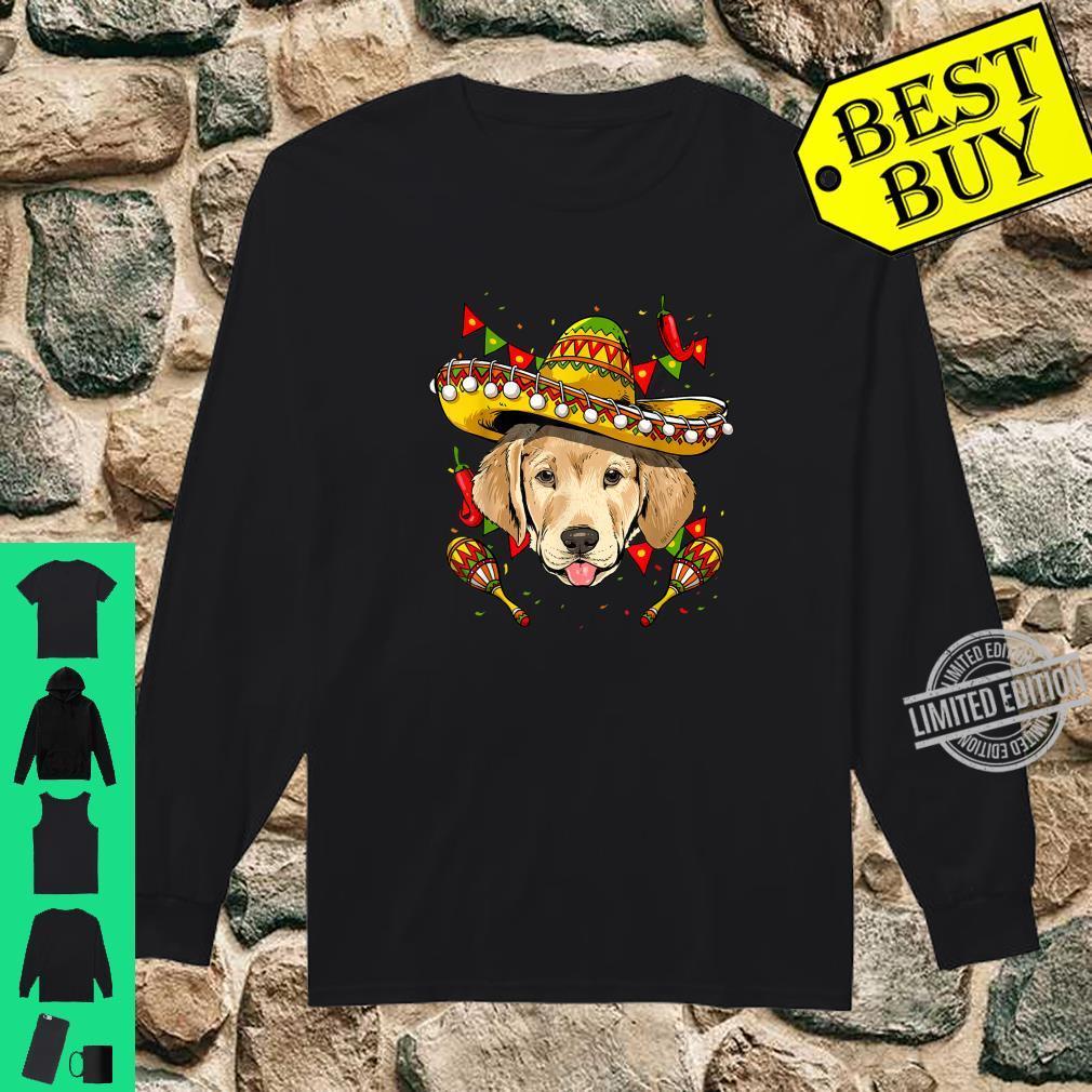 Cinco de Mayo Labrador Retriever Sombrero Shirt long sleeved