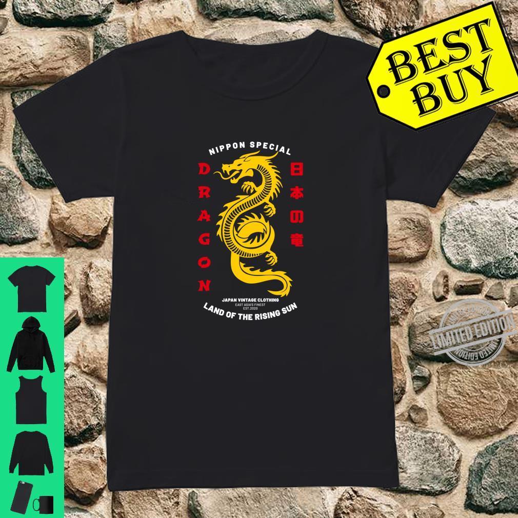 Cool Traditional Japanese Dragon Shirt ladies tee