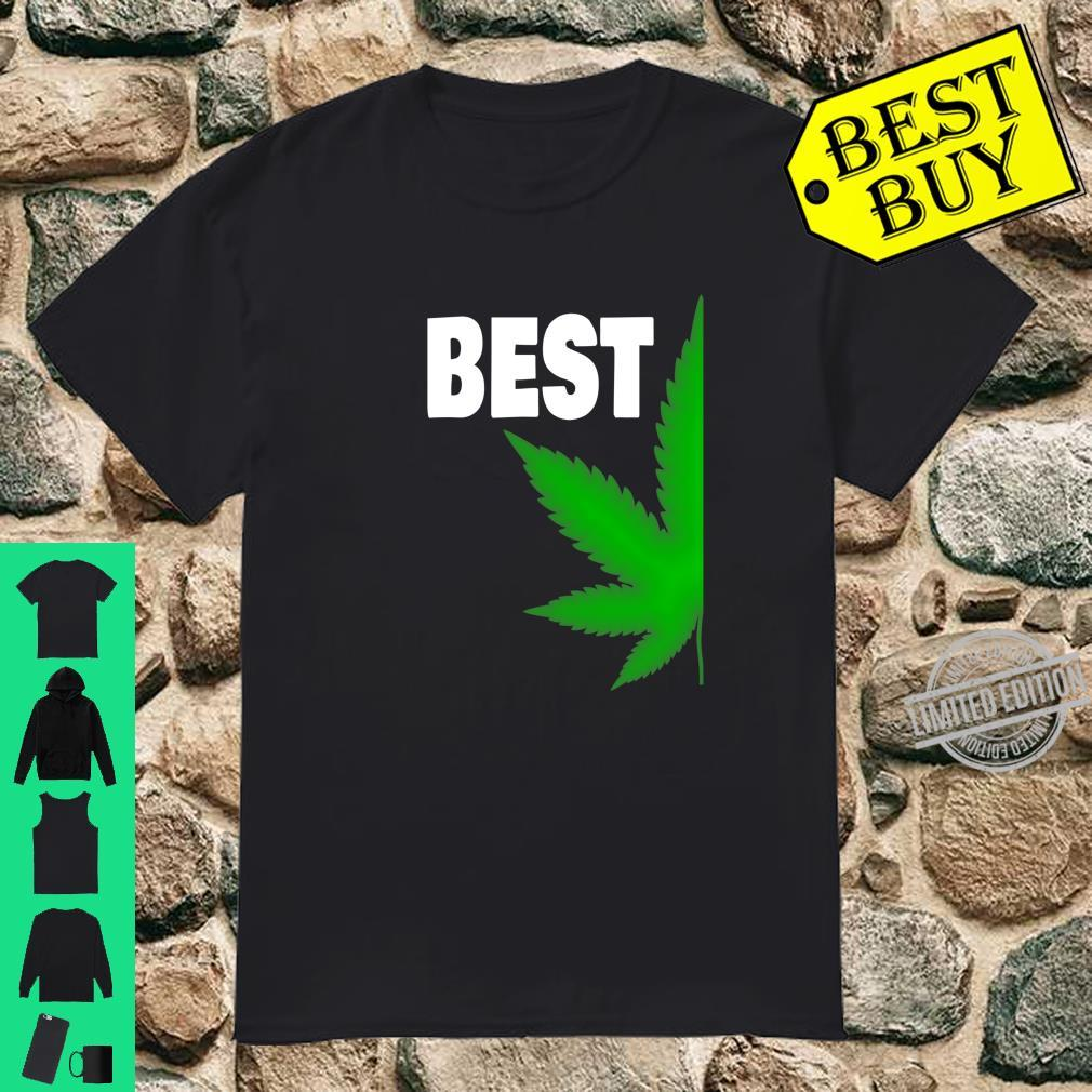 Couples Matching Best Buds BFF Marijuana Leaf Weed Shirt