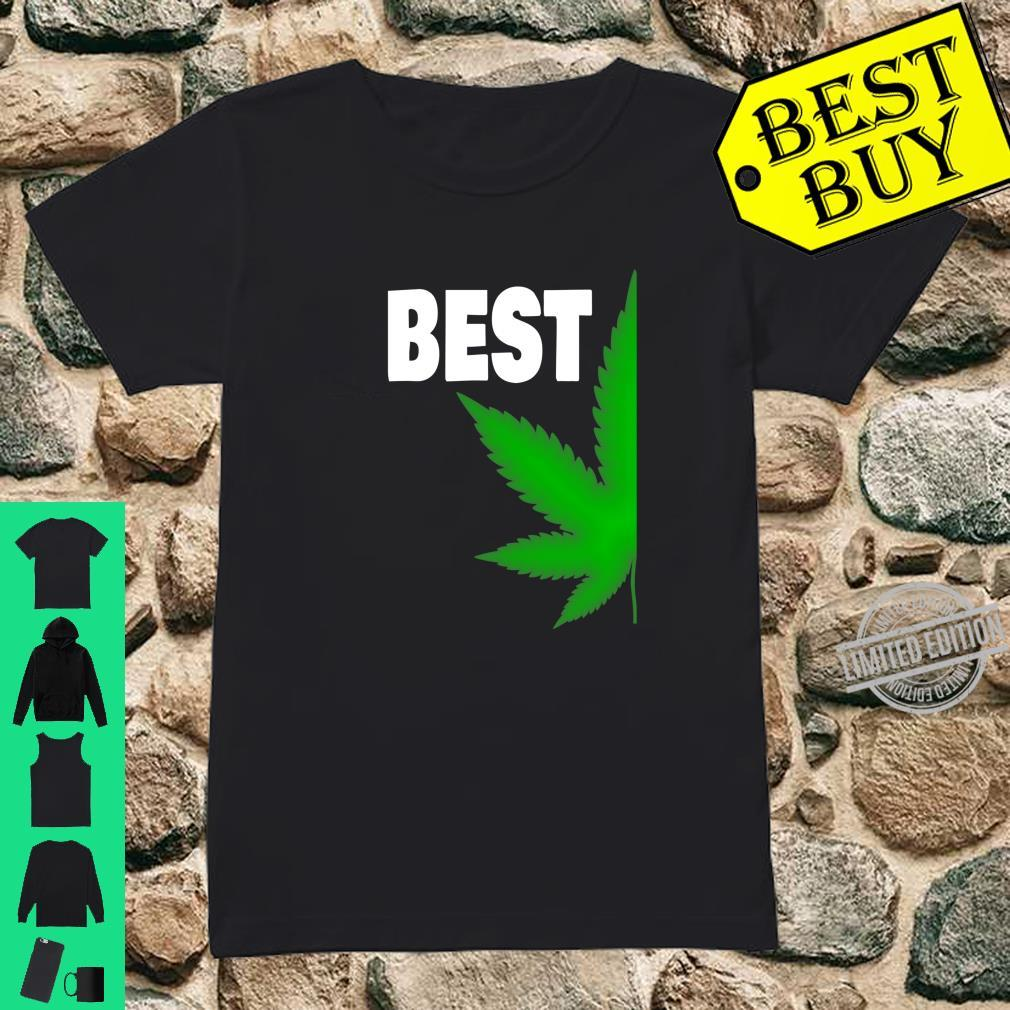 Couples Matching Best Buds BFF Marijuana Leaf Weed Shirt ladies tee