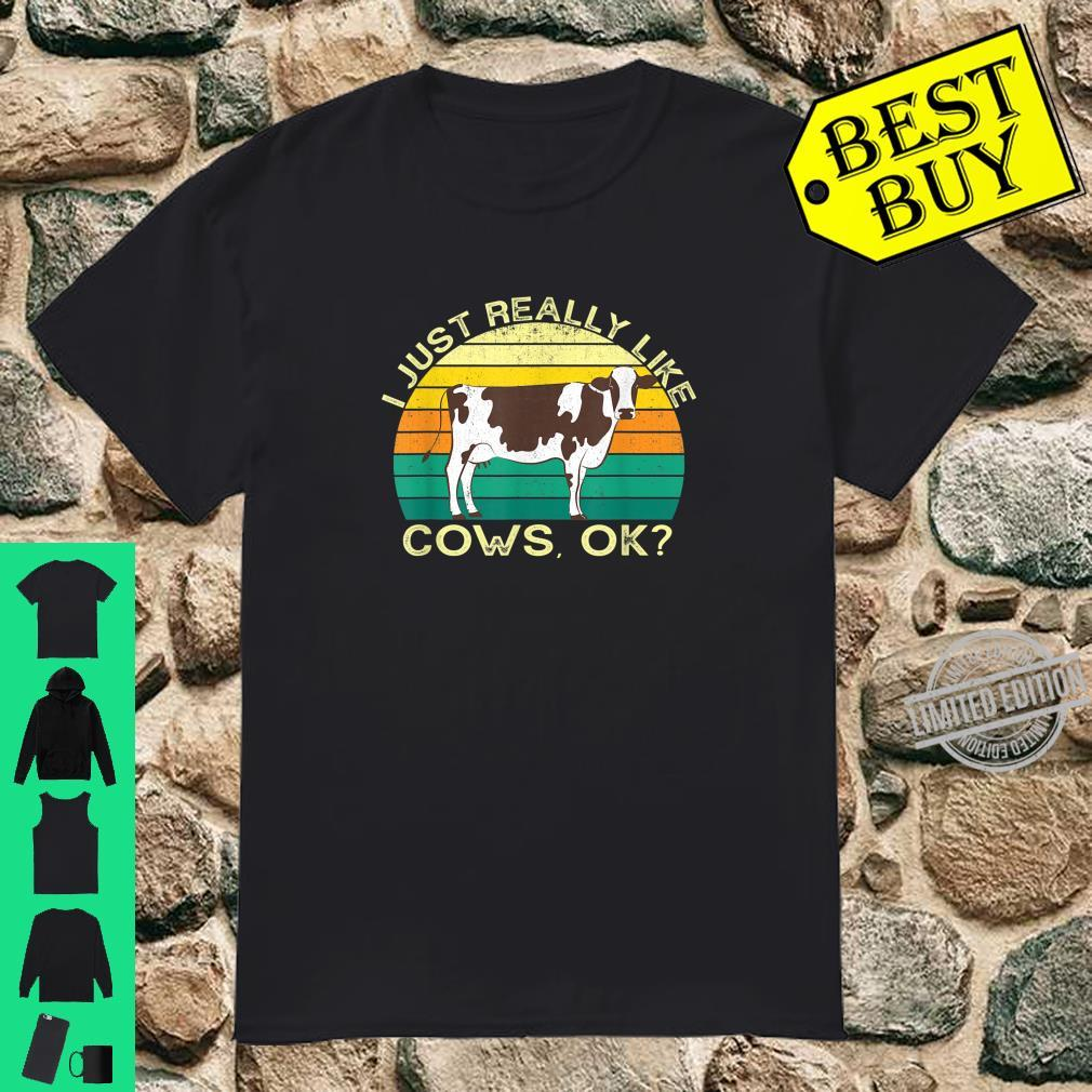 Cows Animal Quote With Vintage Shape Design Shirt