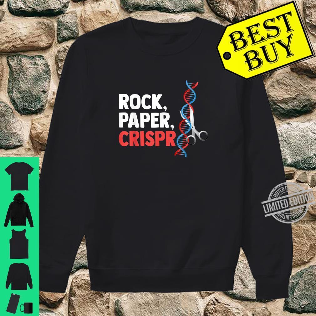Rock Paper Crispr Funny Scientist Biologist Quote Gift Shirt