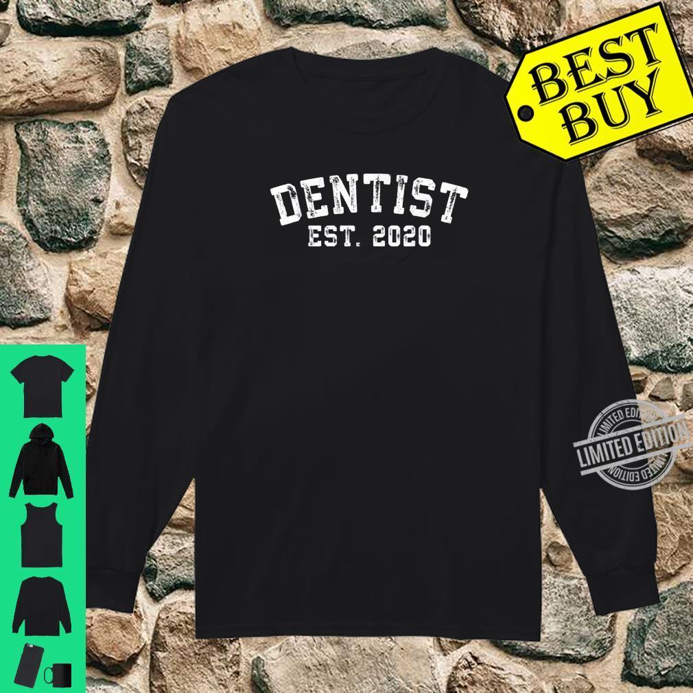 Dentist Graduation for New Dentists established 2020 Shirt long sleeved