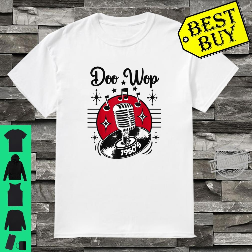 Doo Wop Sock Hop Dance 50s Rock N Roll Rockabilly Microphone Shirt