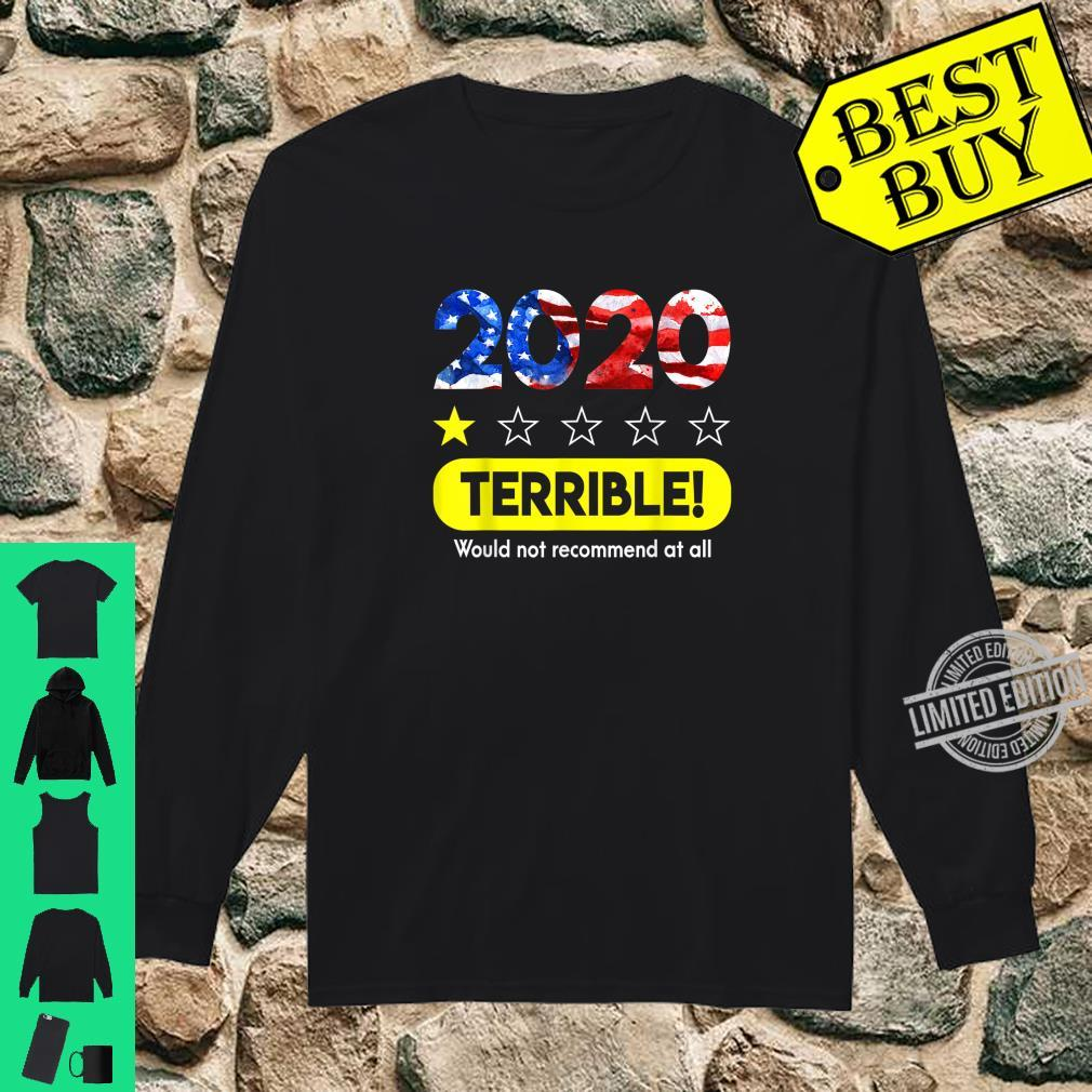 Flag 2020 Terrible Would Not Recommend 1 Star Rating Shirt long sleeved